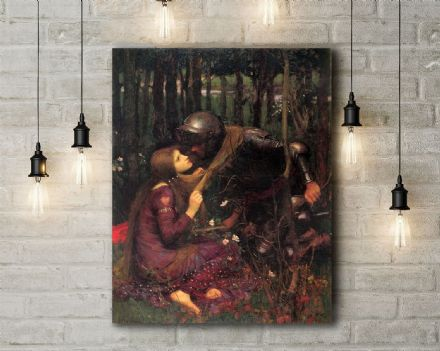 John William Waterhouse: Beautiful Woman Without Mercy. Fine Art Canvas.